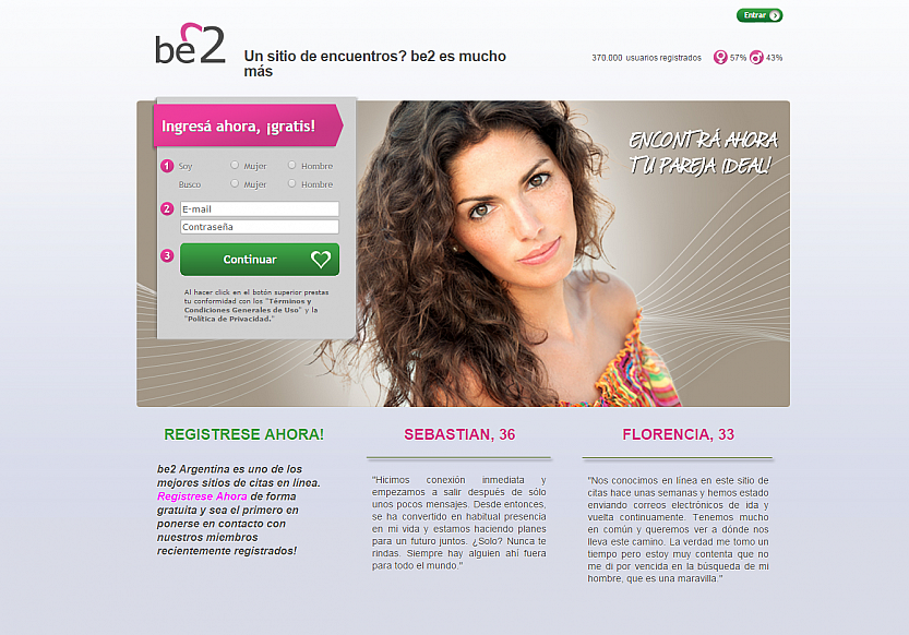 be2 free dating site